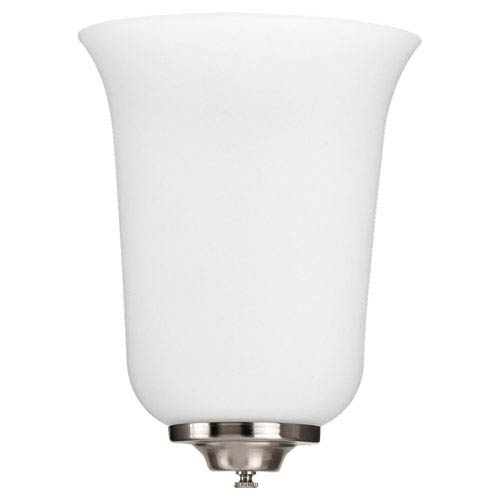 Sea Gull Lighting Brushed Nickel LED  Wall Sconce with Opal Cased Etched Glass