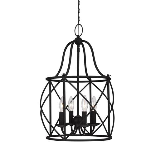 Sea Gull Lighting Turbinio Blacksmith 15-Inch Energy Star Four-Light Hall Foyer