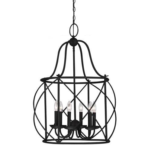 Sea Gull Lighting Turbinio Blacksmith 31.25-Inch Six Light Hall Foyer Pendant
