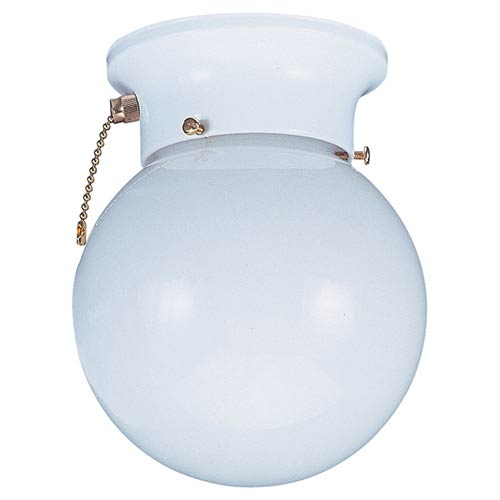 Sea Gull Lighting Tomkin White One-Light Flush Mount