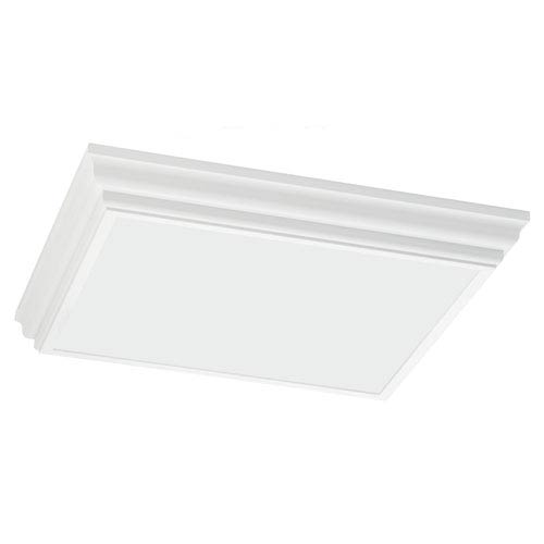 Trim and Chassis Drop Lens White Fluorescent 3.5-Inch Four Light Flush Mount