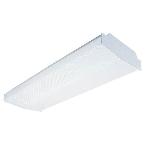 White Four-Light Fluorescent Flush Mount Ceiling Light