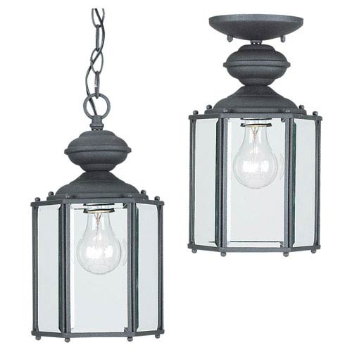 Sea Gull Lighting Classico Black Outdoor Wall Lantern