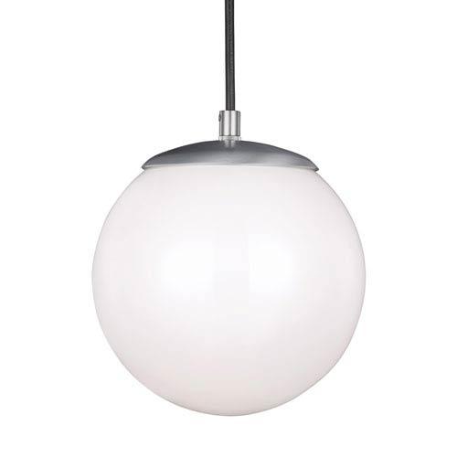 Hanging Globe Satin Aluminum 8-Inch One-Light Mini Pendant