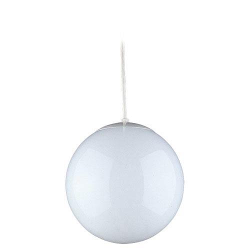 Large White Globe Pendant