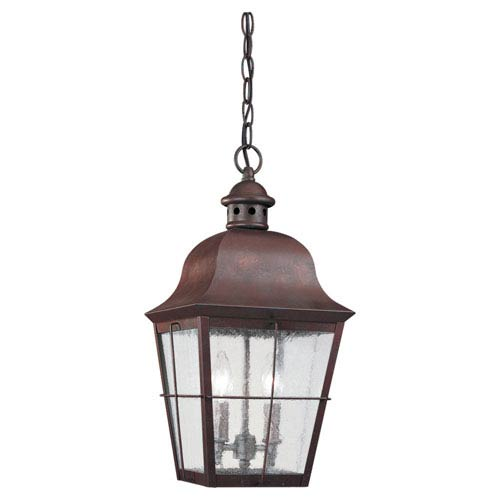 Colonial Copper Outdoor Hanging Lantern