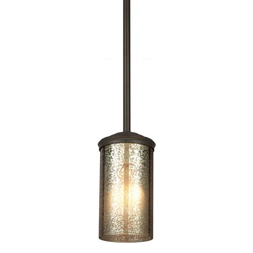 Sfera Autumn Bronze One Light Mini-Pendant with Mercury Glass