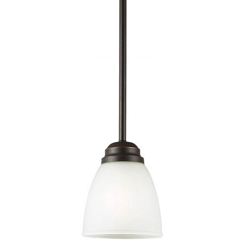 sea gull lighting northbrook roman bronze one light mini pendant
