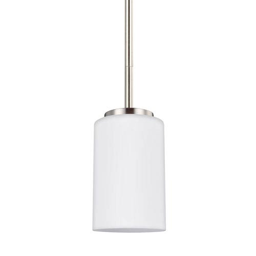 Oslo Brushed Nickel 4-Inch One-Light Mini Pendant