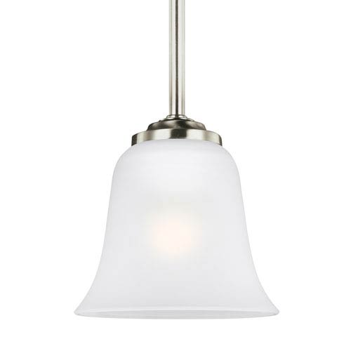 Emmons Brushed Nickel 6-Inch One-Light Mini Pendant