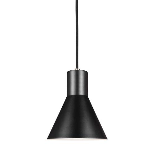 Towner Brushed Nickel 7-Inch One-Light Mini Pendant