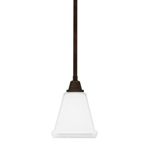 Denhelm Burnt Sienna 5.75-Inch One Light Mini Pendant