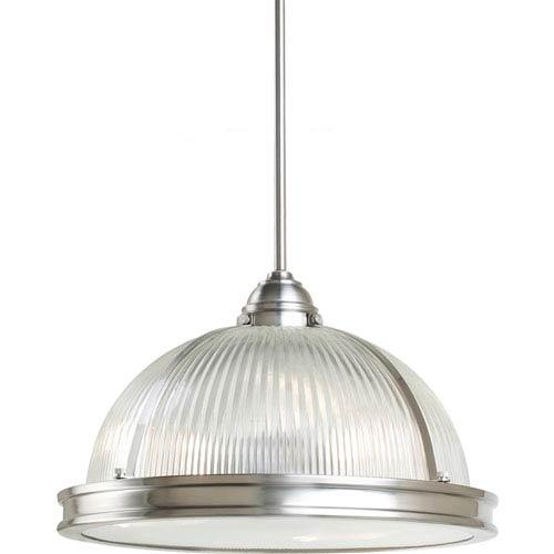 Pratt Street Prismatic Brushed Nickel  Three-Light Pendant