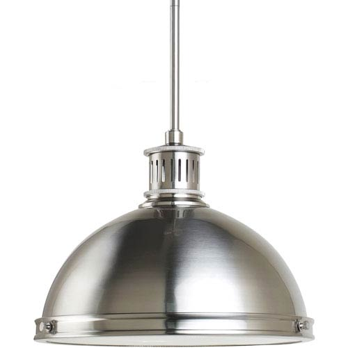 Sea Gull Lighting Pratt Street Metal Brushed Nickel  Two-Light Pendant