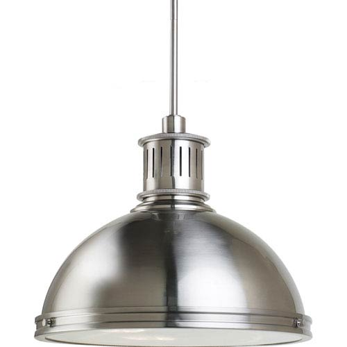 Sea Gull Lighting Pratt Street Metal Brushed Nickel  Three-Light Pendant