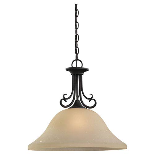 Sea Gull Lighting Del Prato Chestnut Bronze One-Light Dome Pendant