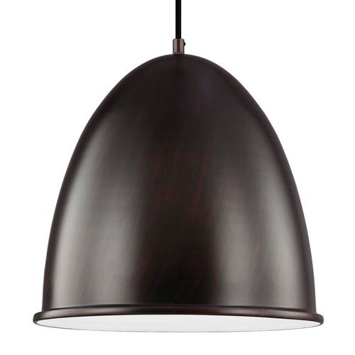 Sea Gull Lighting Hudson Street Burnt Sienna LED Pendant