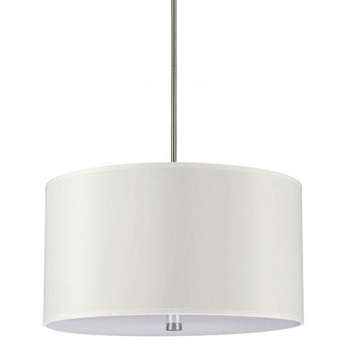 Sea Gull Lighting Dayna Brushed Nickel 13-Inch Four Light Pendant with Faux Silk Shade
