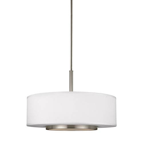 Nance Brushed Nickel 19-Inch Three-Light Pendant