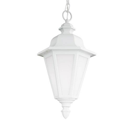 Brentwood White 10-Inch One-Light Outdoor Pendant