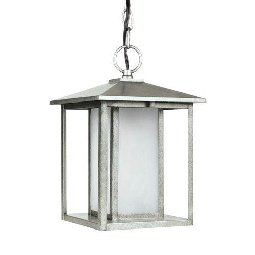 Hunnington Weathered Pewter 9-Inch One-Light Outdoor Pendant