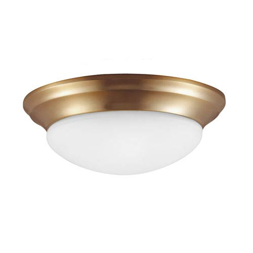 Sea Gull Lighting Nash Satin Bronze 4.5-Inch Two Light Fixture Flush Mount