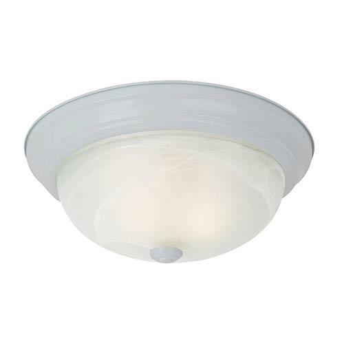 Windgate White Two-Light Flush Mount