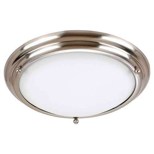 Centra Large Brushed Stainless Flush Mount Ceiling Light