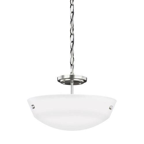 Kerrville Brushed Nickel Two-Light Pendant