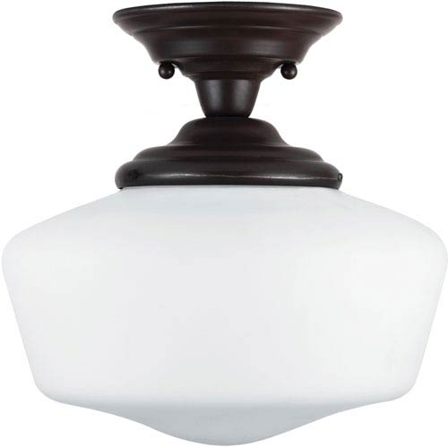 Sea Gull Lighting Academy Heirloom Bronze  One-Light Close to Ceiling Light
