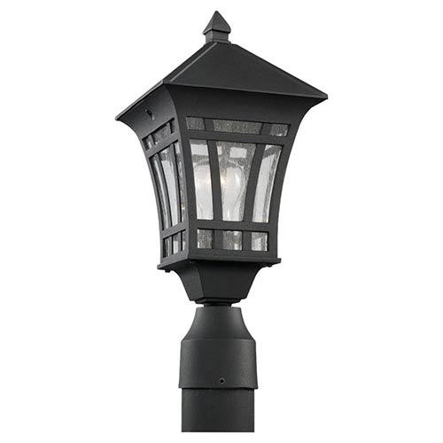 Herrington Black One-Light Outdoor Post Lantern