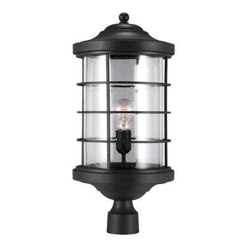 Sauganash Black One Light Outdoor Post Lantern