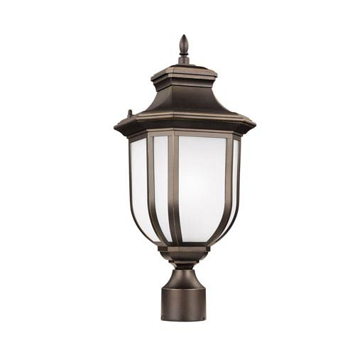 Childress Antique Bronze 9-Inch One-Light Outdoor Post Mount