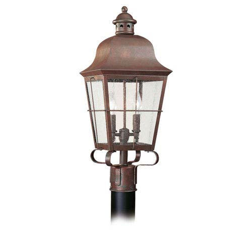 Colonial Copper Two-Light Outdoor Post Mount