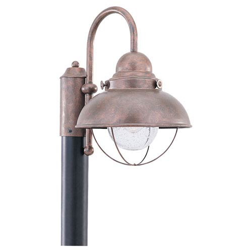 Sebring Weathered Copper Outdoor Post Mount