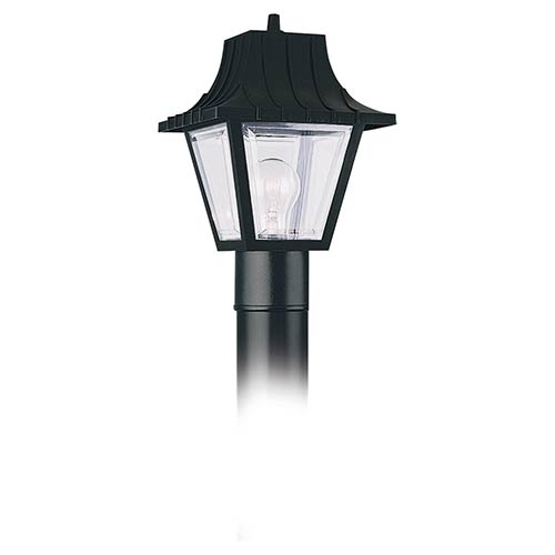 Clear One-Light Outdoor Post Lantern