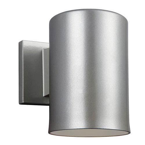 Sea Gull Lighting Outdoor Painted Brushed Nickel Five-Inch LED Wall Lantern