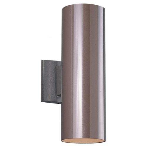 Outdoor Cylinders Six-Inch Bronze Two-Light Outdoor Wall Mount