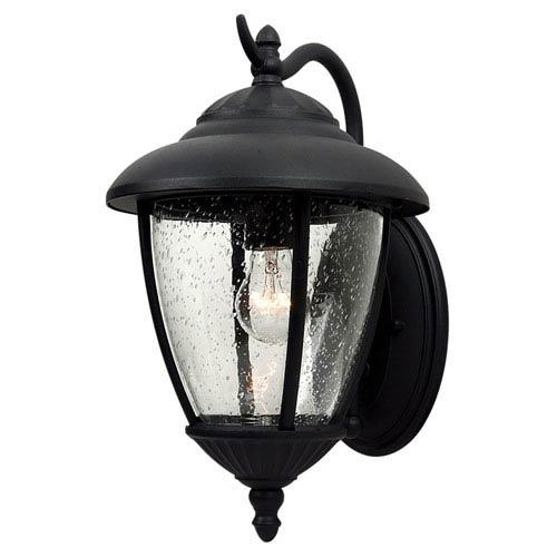 Sea Gull Lighting Lambert Hill Black Outdoor Wall Lantern