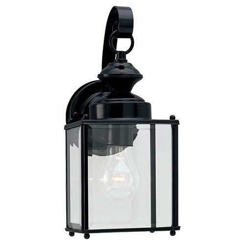 Jamestowne Black 5.5-Inch Wide One-Light Outdoor Wall Lantern