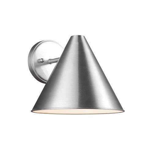 Crittenden Satin Aluminum 10-Inch One-Light Outdoor Wall Lantern