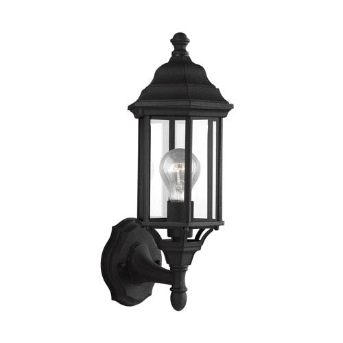 Sea Gull Lighting Sevier Black 6.5-Inch One-Light Outdoor Wall Lantern