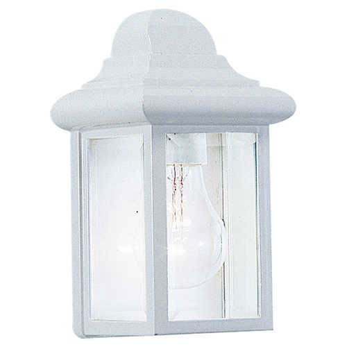 Sea Gull Lighting Mullberry Hill White One-Light Outdoor Wall Lantern