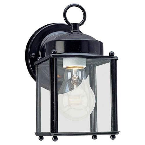 New Castle Black One-Light Outdoor Wall Lantern