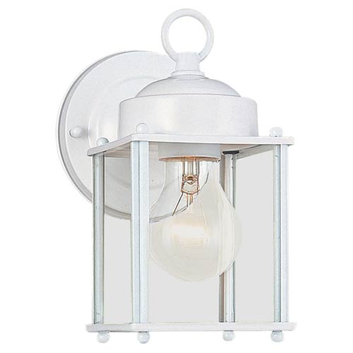 New Castle White One-Light Outdoor Wall Lantern