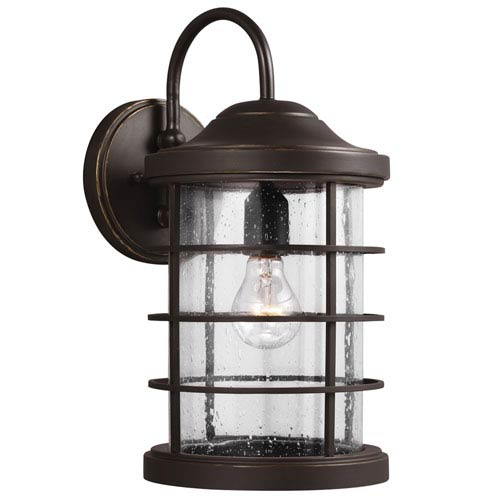 Sea Gull Lighting Sauganash Antique Bronze One Light Outdoor Wall Lantern