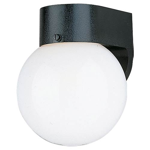 Sea Gull Lighting Smooth White One-Light Outdoor Wall Lantern