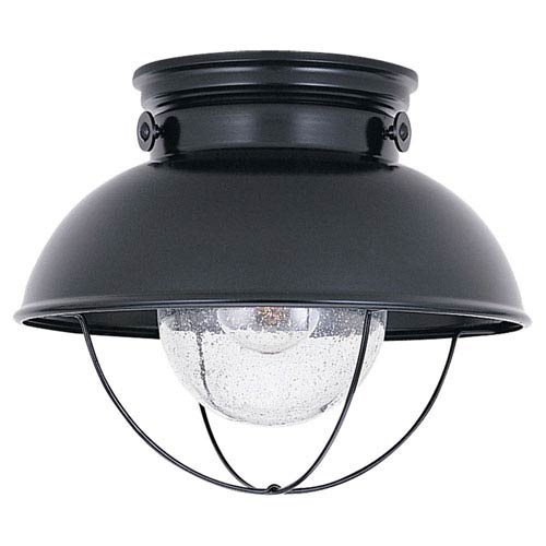 Sebring Black Outdoor Ceiling Light