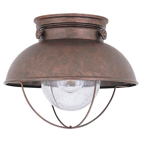 Sea Gull Lighting Sebring Weathered Copper Outdoor Ceiling Light