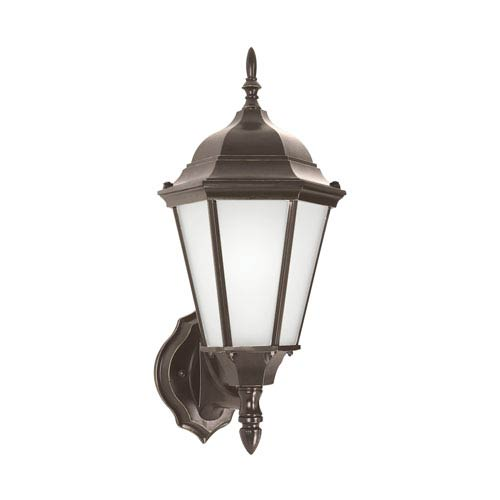 Sea Gull Lighting Bakersville Heirloom Bronze 8-Inch One-Light Outdoor Wall Lantern